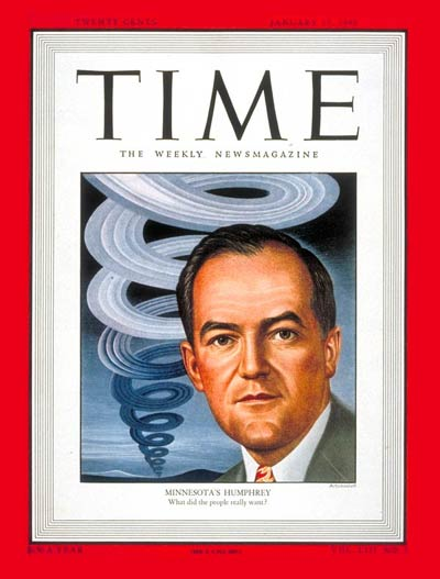 TIME Magazine Cover: Sen. Hubert Humphrey -- Jan. 17, 1949