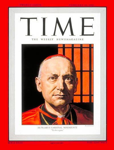 TIME Magazine Cover: Cardinal Mindszenty -- Feb. 14, 1949