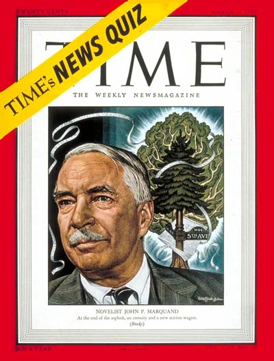 TIME Magazine Cover: John P. Marquand -- Mar. 7, 1949