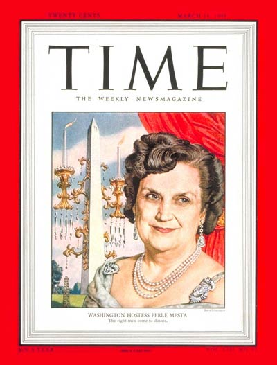 TIME Magazine Cover: Perle Mesta -- Mar. 14, 1949