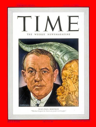 TIME Magazine Cover: Paul G. Hoffman -- Apr. 11, 1949