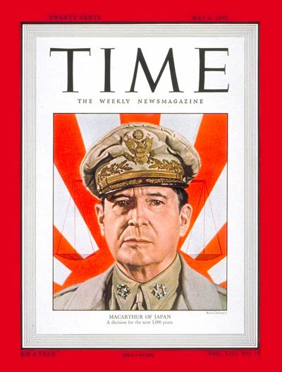 TIME Magazine Cover: General Douglas MacArthur -- May 9, 1949