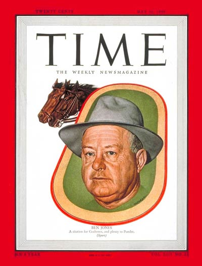 TIME Magazine Cover: Ben Jones -- May 30, 1949