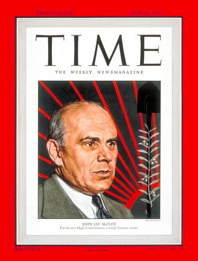 TIME Magazine Cover: John Jay McCloy -- June 20, 1949