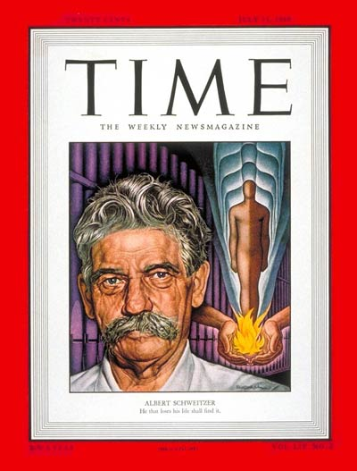 TIME Magazine Cover: Albert Schweitzer -- July 11, 1949