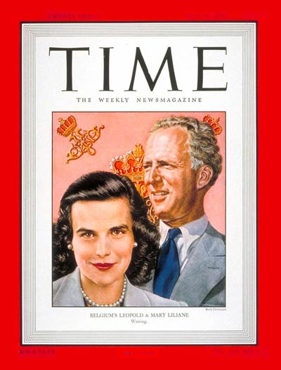 TIME Magazine Cover: King Leopold III and Princess de Rethy -- July 18, 1949