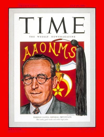 TIME Magazine Cover: Harold Lloyd -- July 25, 1949