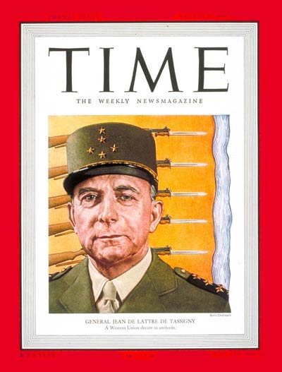 TIME Magazine Cover: General de Tassigny -- Aug. 1, 1949