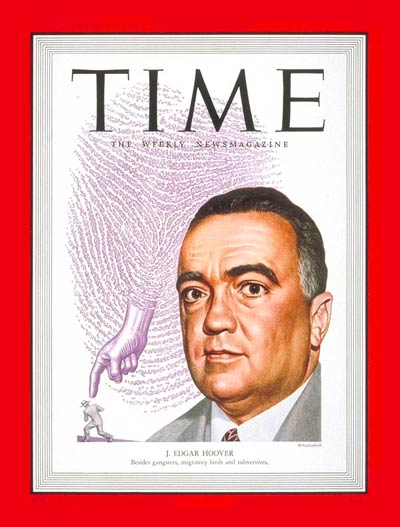 TIME Magazine Cover: J. Edgar Hoover -- Aug. 8, 1949