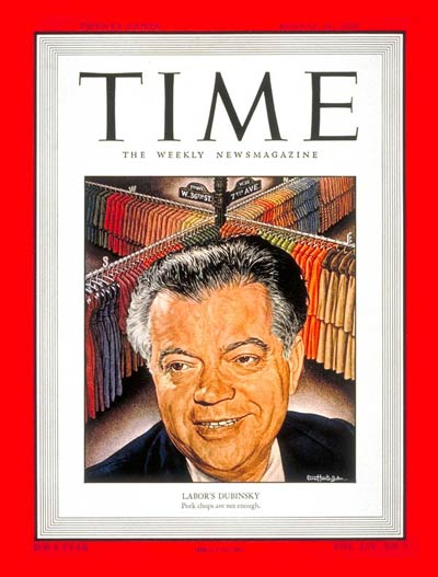 TIME Magazine Cover: David Dubinsky -- Aug. 29, 1949