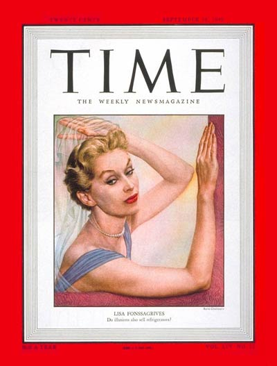TIME Magazine Cover: Lisa Fonssagrives -- Sep. 19, 1949