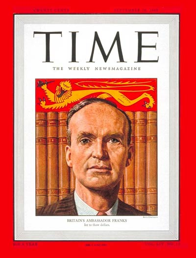 TIME Magazine Cover: Sir Oliver Franks -- Sep. 26, 1949