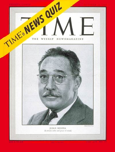 TIME Magazine Cover: Judge Harold Medina -- Oct. 24, 1949