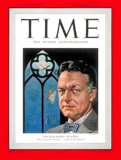 TIME Magazine Cover: Robert M. Hutchins -- Nov. 21, 1949