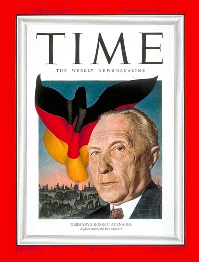 TIME Magazine Cover: Konrad Adenauer -- Dec. 5, 1949