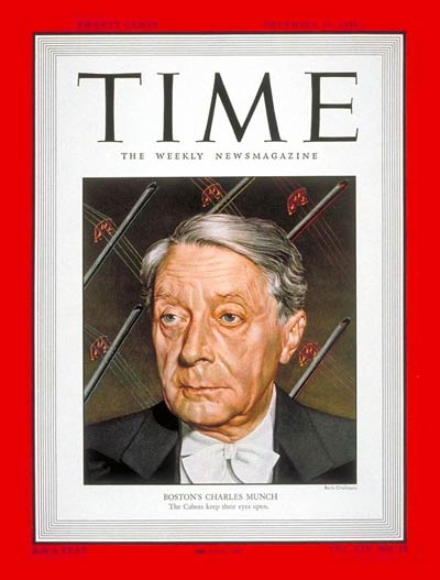 TIME Magazine Cover: Charles Munch -- Dec. 19, 1949
