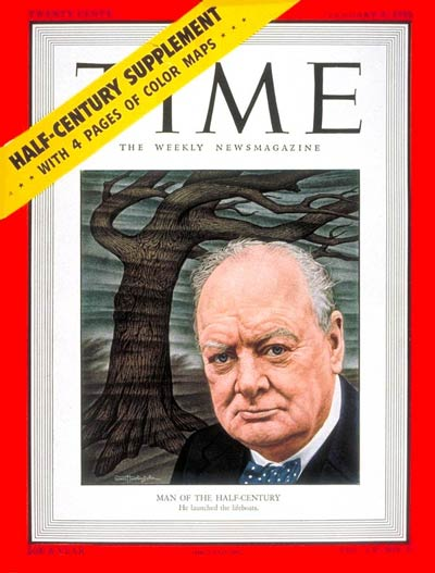 TIME Magazine Cover: Winston Churchill, Man of the Year -- Jan. 2, 1950