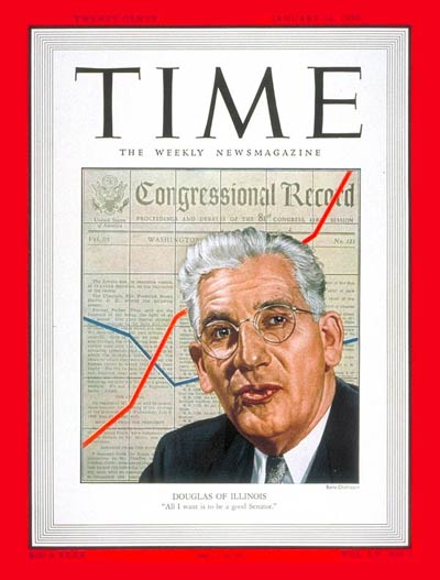 TIME Magazine Cover: Paul H. Douglas -- Jan. 16, 1950