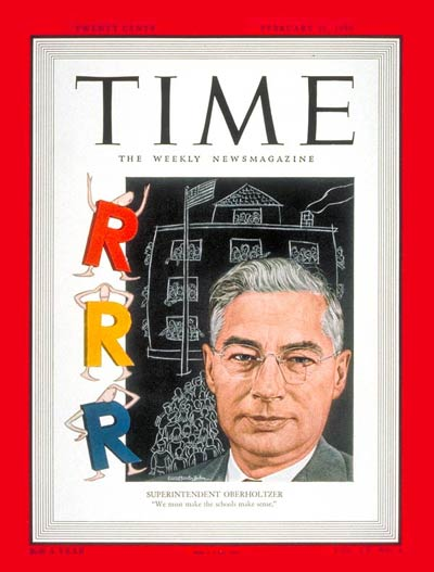 TIME Magazine Cover: Kenneth Oberholtzer -- Feb. 20, 1950