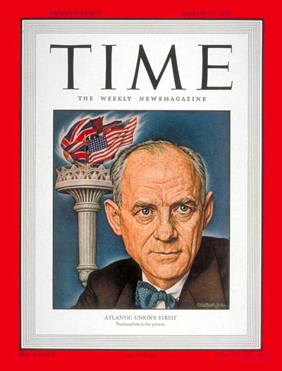 TIME Magazine Cover: Clarence K. Streit -- Mar. 27, 1950