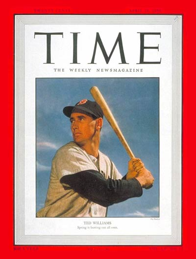 TIME Magazine Cover: Ted Williams -- Apr. 10, 1950