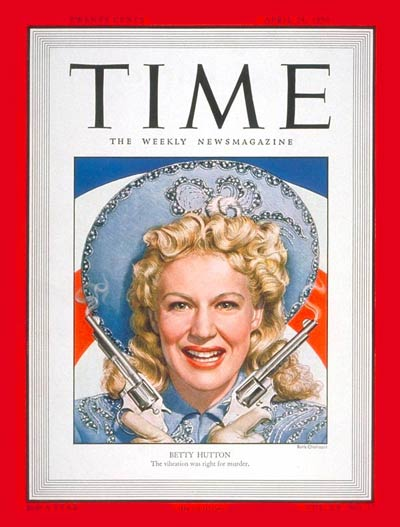 TIME Magazine Cover: Betty Hutton -- Apr. 24, 1950