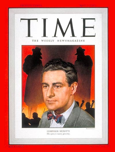 TIME Magazine Cover: Gian-Carlo Menotti -- May 1, 1950