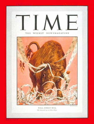 TIME Magazine Cover: Wall Street Bull -- June 5, 1950