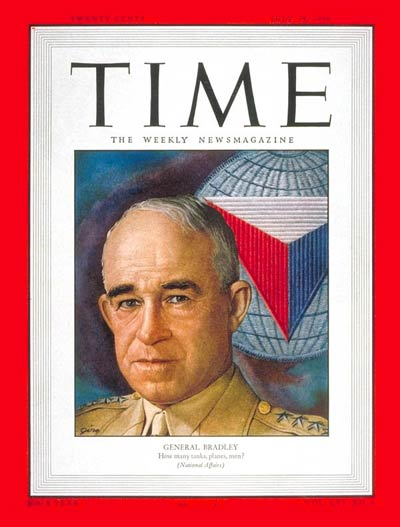 TIME Magazine Cover: General Omar Bradley -- July 24, 1950