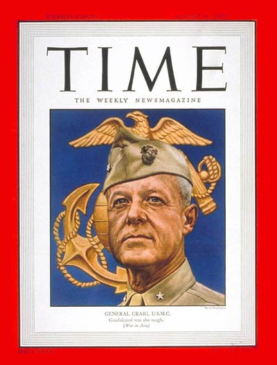 TIME Magazine Cover: Brig. General Craig -- Aug. 14, 1950