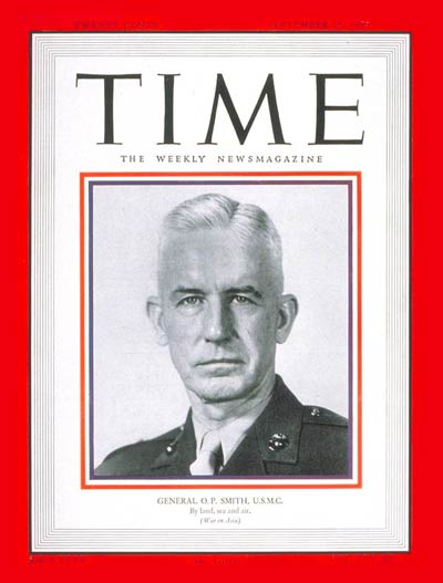 TIME Magazine Cover: General O.P. Smith -- Sep. 25, 1950