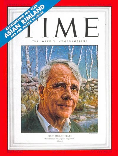 TIME Magazine Cover: Robert Frost -- Oct. 9, 1950
