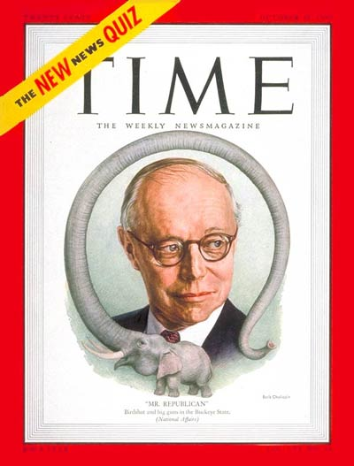 TIME Magazine Cover: Sen. Robert A. Taft -- Oct. 30, 1950