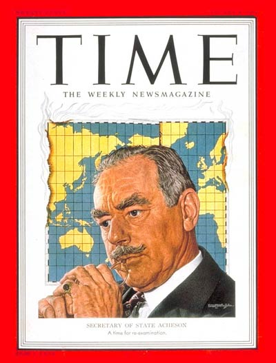 TIME Magazine Cover: Dean Acheson -- Jan. 8, 1951