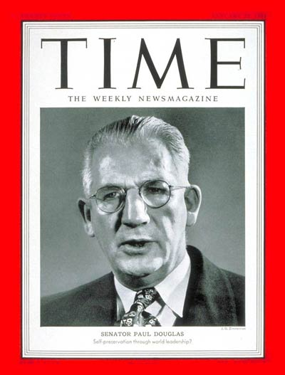 TIME Magazine Cover: Senator Paul Douglas -- Jan. 22, 1951
