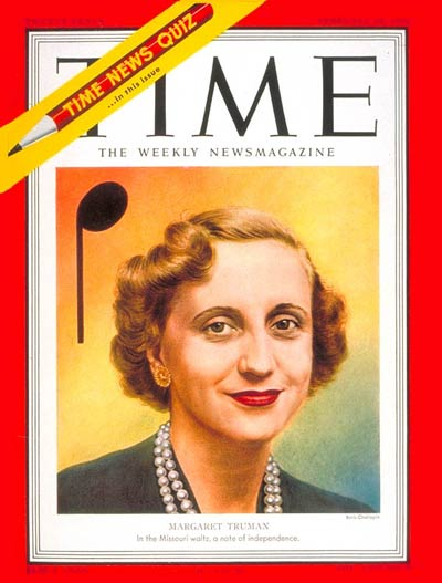 TIME Magazine Cover: Margaret Truman -- Feb. 26, 1951