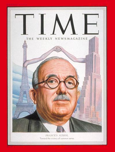 TIME Magazine Cover: Jules Vincent Auriol -- Apr. 2, 1951