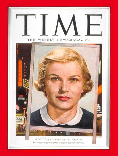 TIME Magazine Cover: Barbara Bel Geddes -- Apr. 9, 1951