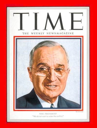 TIME Magazine Cover: Harry S. Truman -- Apr. 23, 1951