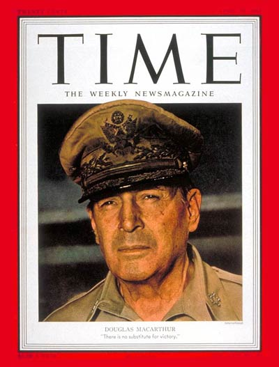 TIME Magazine Cover: General MacArthur -- Apr. 30, 1951