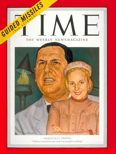 TIME Magazine Cover: Juan and Eva Peron -- May 21, 1951