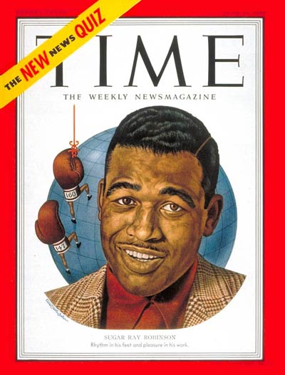 TIME Magazine Cover: Sugar Ray Robinson -- June 25, 1951