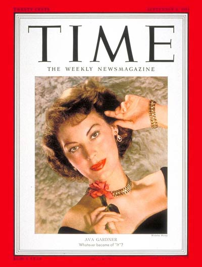 TIME Magazine Cover: Ava Gardner -- Sep. 3, 1951