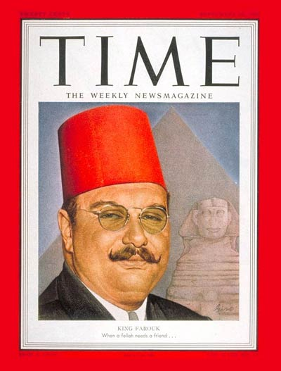 TIME Magazine Cover: King Farouk I - Sep. 10, 1951 - King Farouk I ...