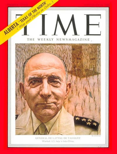 TIME Magazine Cover: General Jean de Tassigny -- Sep. 24, 1951