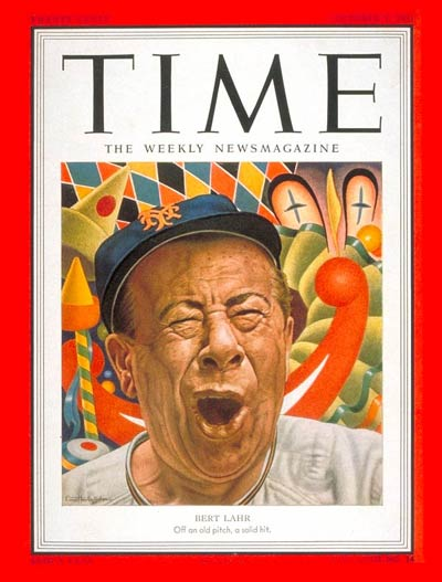 TIME Magazine Cover: Bert Lahr -- Oct. 1, 1951