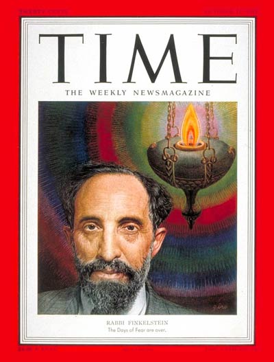 TIME Magazine Cover: Rabbi Louis Finklestein -- Oct. 15, 1951