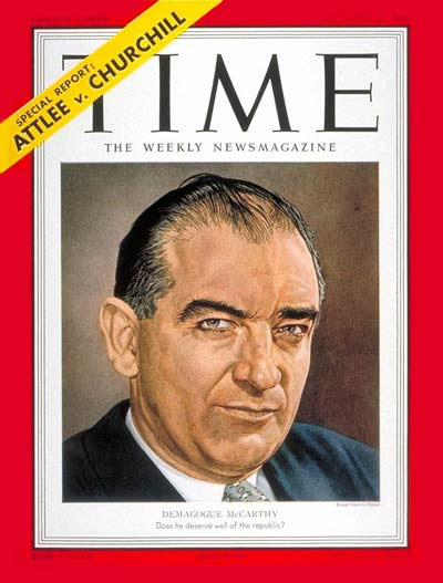 TIME Magazine Cover: Joseph R. McCarthy -- Oct. 22, 1951