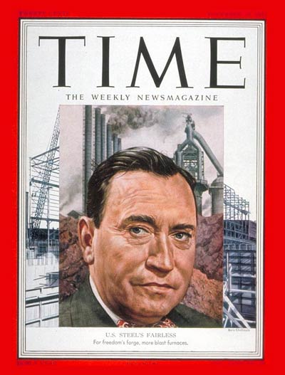TIME Magazine Cover: Benjamin F. Fairless -- Nov. 12, 1951