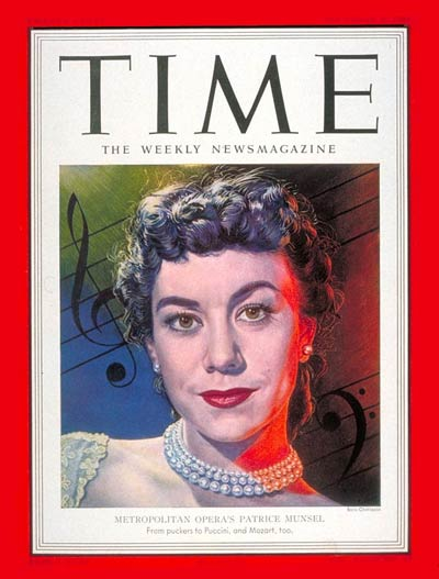TIME Magazine Cover: Patrice Munsel -- Dec. 3, 1951